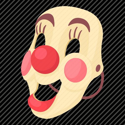 cartoon, clown, clown mask, face, mask, masking, smile icon