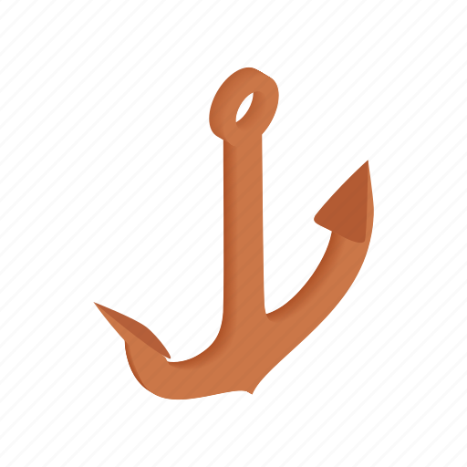 anchor, isometric, marine, metal, nautical, old, vintage icon