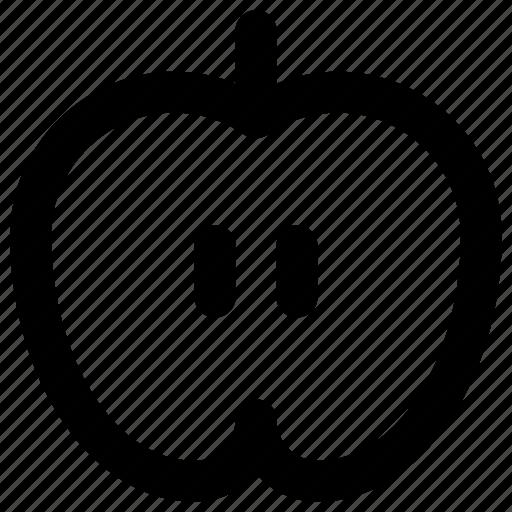 apple, food, half, health icon