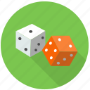 challenge, chance, cubes, dice, fortune, fun, gamble, game, lottery, play, random, single die, table game icon
