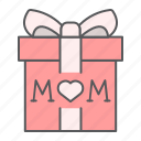 gift, mom, mother, present, box, love, heart