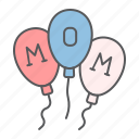 happy, mothers, day, balloon, balloons, mom, party