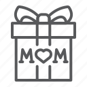 gift, mom, mother, present, box, love, heart