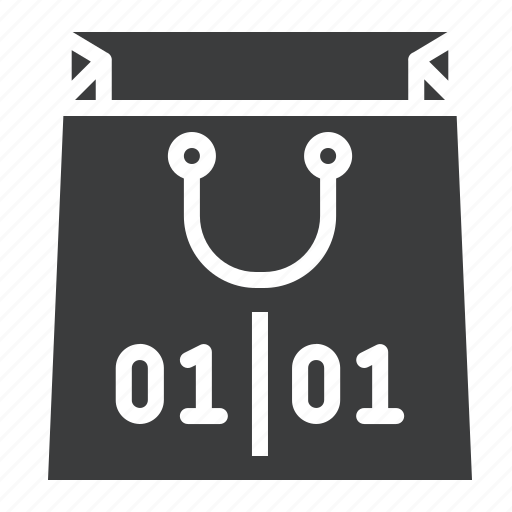 bag, end, new year, of, purchase, sale, shopping icon