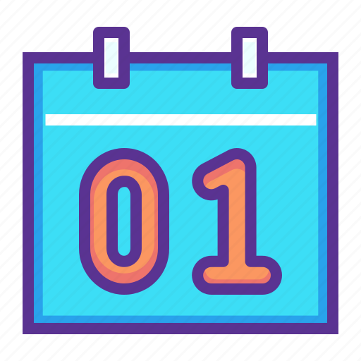 calendar, date, day, event, january, month, new year icon