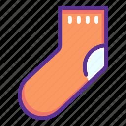 christmas, clothing, gift, new, sock, year icon