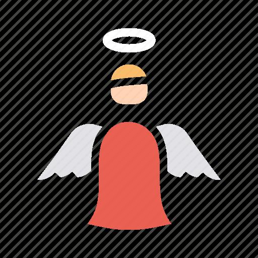 angel, christmas, fairy, holy, new, spirit, year icon