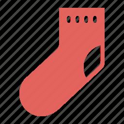 christmas, clothing, gift, new year, sock icon