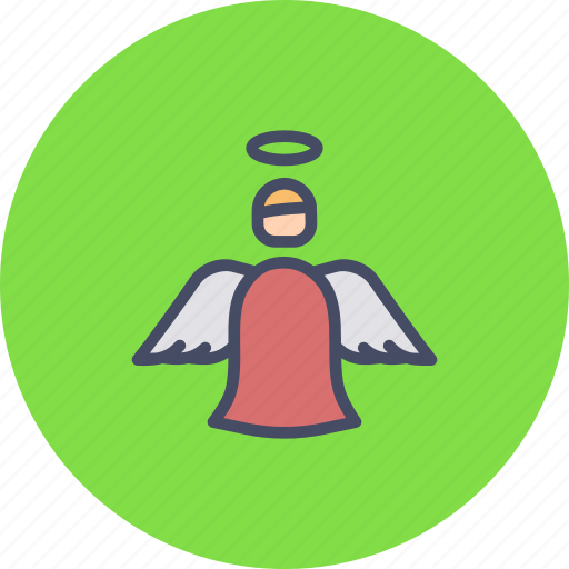 angel, christmas, fairy, holy, new, spirit, year icon