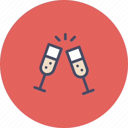 champagne, cheers, drink, new year, party, treat icon