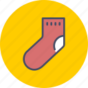 christmas, clothing, gift, new, sock, year icon