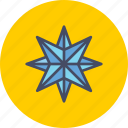 bright, new year, northern, pole, shine, star, twinkle icon