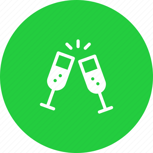 champagne, cheers, drink, new, party, treat, year icon