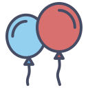 balloon, celebrate, celebration, festival, merry, new, year icon