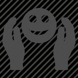 care, emoticon, emotion, happy, healthcare, smile, smiley icon