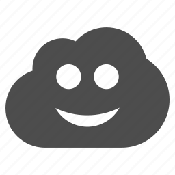 cloud, emotion, happy, online, smile, smiley, weather icon