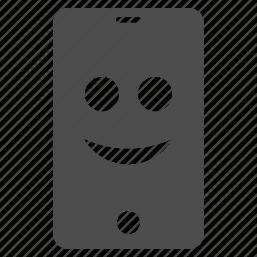 emotion, happy, iphone, mobile, smartphone, smile, smiley icon
