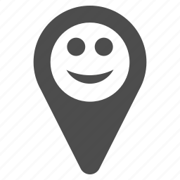 emotion, gps, happy, location, map marker, smile, smiley icon