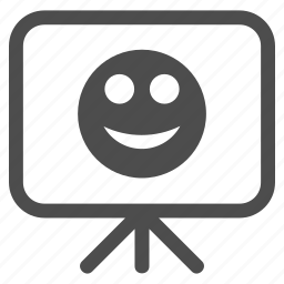 board, emoticon, emotion, happy, presentation, smile, smiley icon