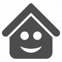 building, emotion, estate, happy, real, smile, smiley icon