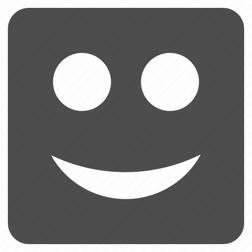 emotion, happy, logo, smile, smiley, social, square icon