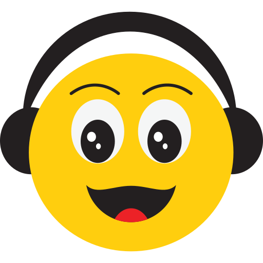 face, happy, listen to music, smiley icon