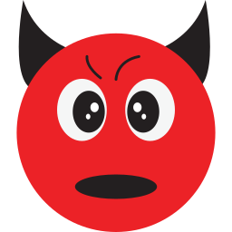 angry, bad, devil, smiley icon