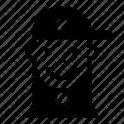 avatar, face, hat, kid, person, profile, user icon