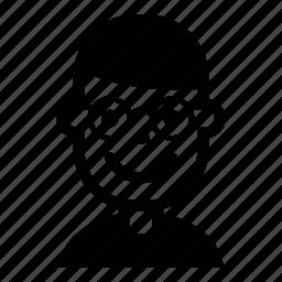 avatar, face, glasses, kid, person, profile, user icon