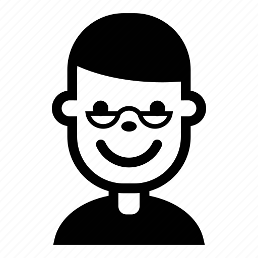 avatar, face, glasses, person, profile, user icon