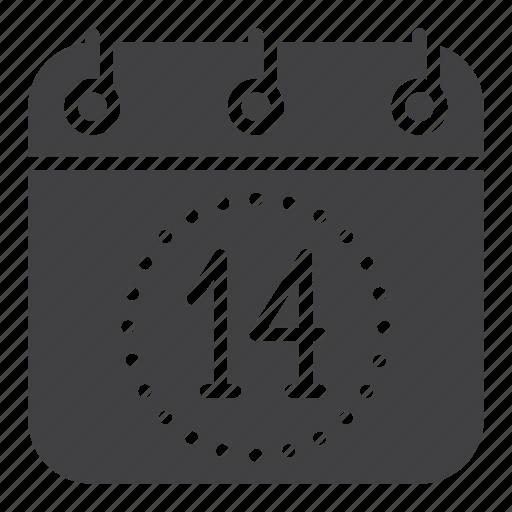 Calendar, date, fourteen, love, valentine's day icon - Download on Iconfinder