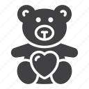 bear, heart, love, soft toy, teddy icon