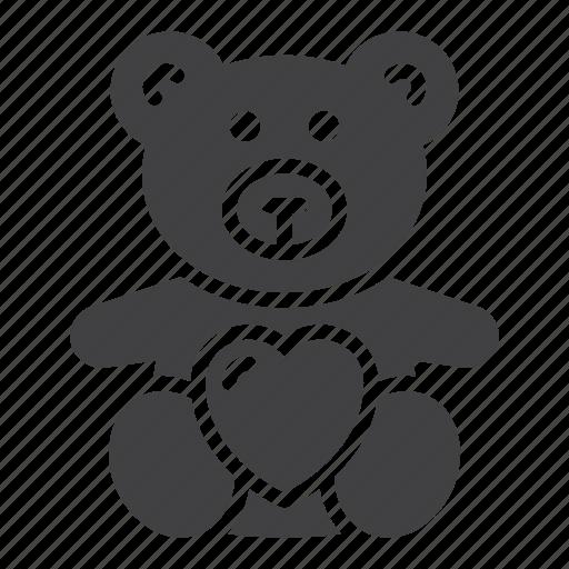 bear, heart, love, soft toy, teddy icon