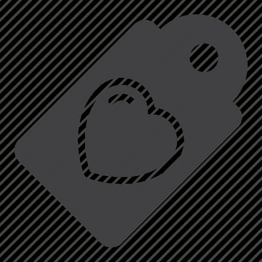 heart, love, sale, tag icon