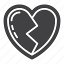 broken, heart, heartbreak, love icon
