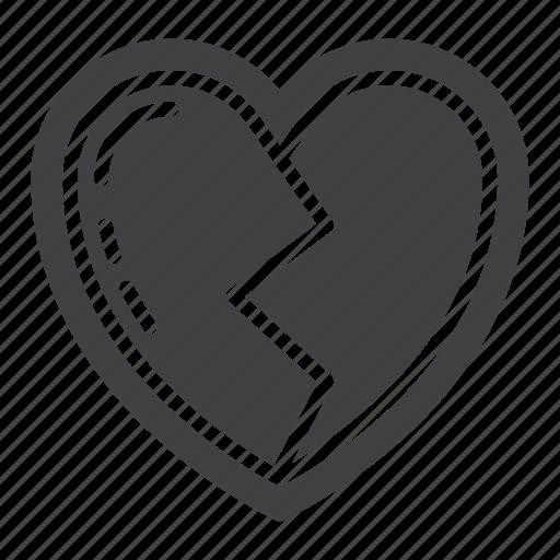 broken, heart, heartbreak, love icon