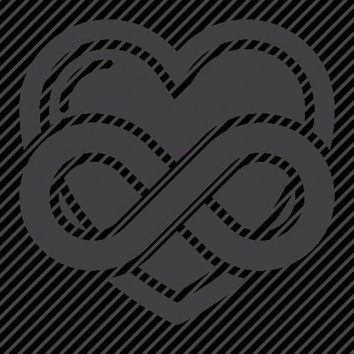 eternal, heart, infinity, love icon