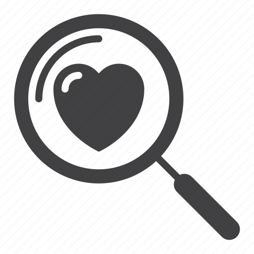 Heart, love, magnifying glass, search icon - Download on Iconfinder