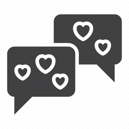 Chat, hearts, love, romance icon - Download on Iconfinder