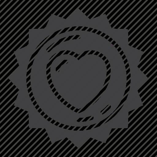 favorite, heart, label, love, sticker icon