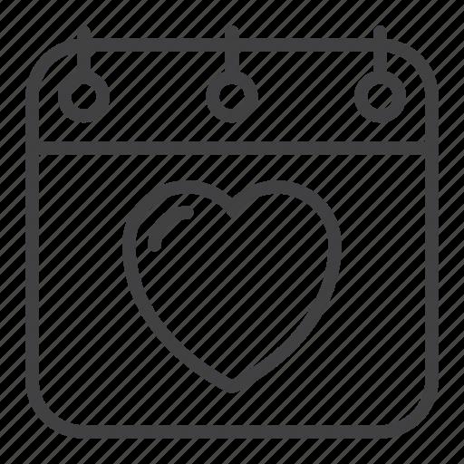 Calendar, date, love, romance, valentine's day icon - Download on Iconfinder