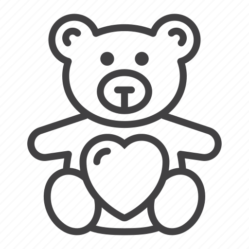 Bear, heart, love, soft toy, teddy icon - Download on Iconfinder
