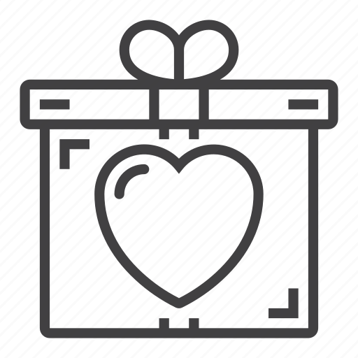 Box, gift, heart, love, present icon - Download on Iconfinder