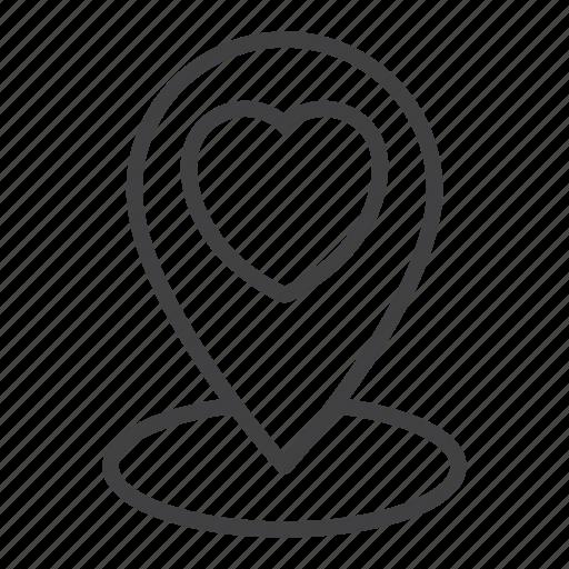 date, favorite, heart, location, love, pin icon