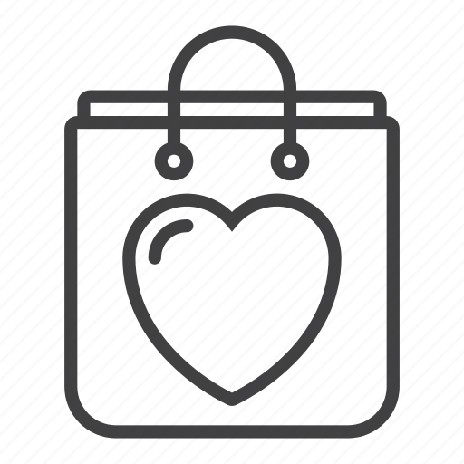 Bag, heart, love, shopping icon - Download on Iconfinder