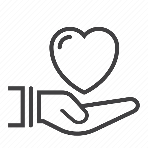 gift, hand, health, heart, holding, love icon