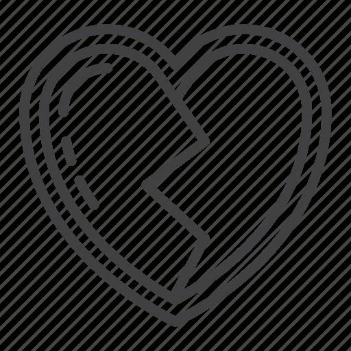 Broken, heart, heartbreak, love, romance icon - Download on Iconfinder