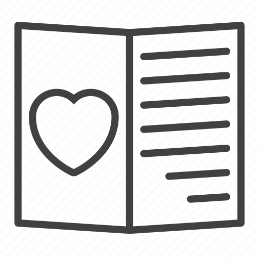 card, heart, love, valentine icon