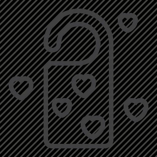 Do not disturb, door, hanger, hearts, love icon - Download on Iconfinder