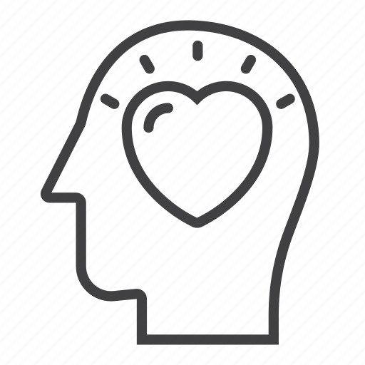 Head, heart, love icon - Download on Iconfinder